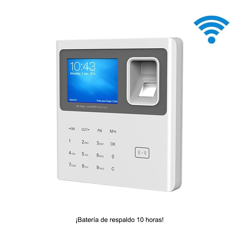 Control de presencia biométrico IP con Wifi y batería 10 h