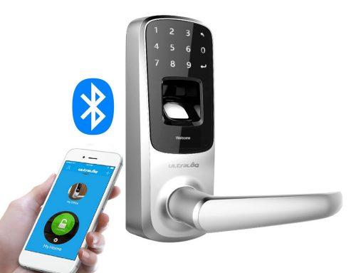 Cerradura inteligente IP65 con Bluetooth 4.0, huella y contraseña PIN