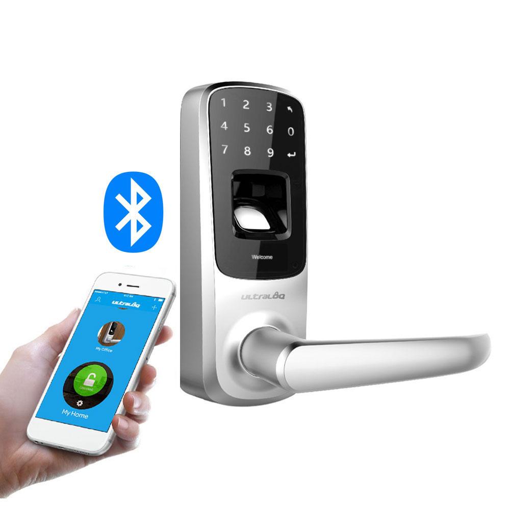 Cerradura biométrica IP65 con apertura por huella, App y código PIN