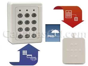 1170250 Control de acceso con teclado lector externo RFID