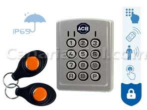 1170255 Control de acceso por código, mando, pulsador, sensor