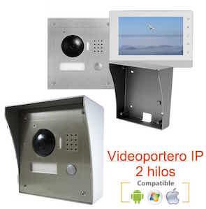 """Videoportero IP HD 2 hilos con pantalla 7"""" 1170400"""