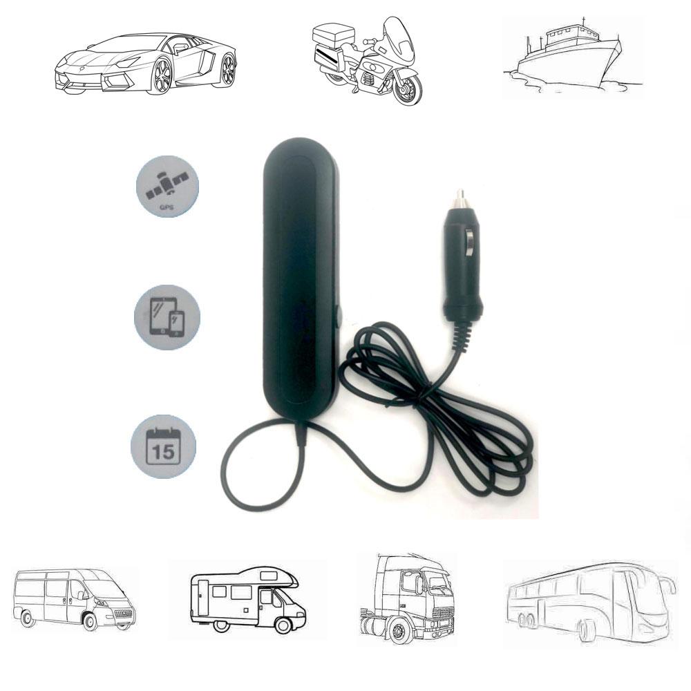 Localizador GPS de vehículos 12V-24V sin cuotas