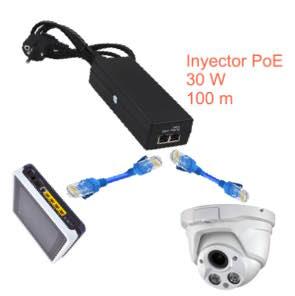 Alimentación y datos PoE 30W 100m para un dispositivo 1180420