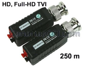 1180433 Pareja vídeo Balun HD-TVI clema a BNC para cable UTP 250 m