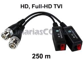 1180437 Pareja vídeo Balun HDTVI clema a BNC 250 m para cable UTP