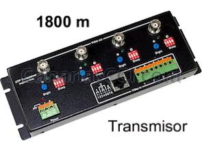 1180450 Vídeo Balun transmisor 1800 m 4 cámaras BNC a RJ45