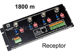 1180455 Vídeo Balun activo 4 cámaras BNC a RJ45 receptor 1800 m