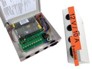 1180651Multi alimentador para 9 cámaras de videovigilancia 12V/10A
