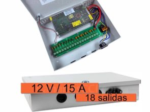 1180653 Multi alimentador para 18 cámaras de videovigilancia 12V/15A
