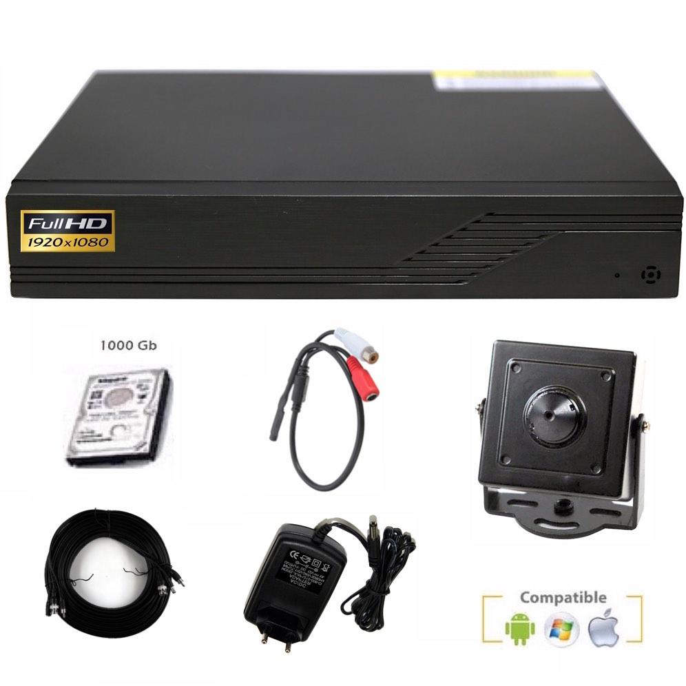 Kit videovigilancia espía 1080P básico ampliable