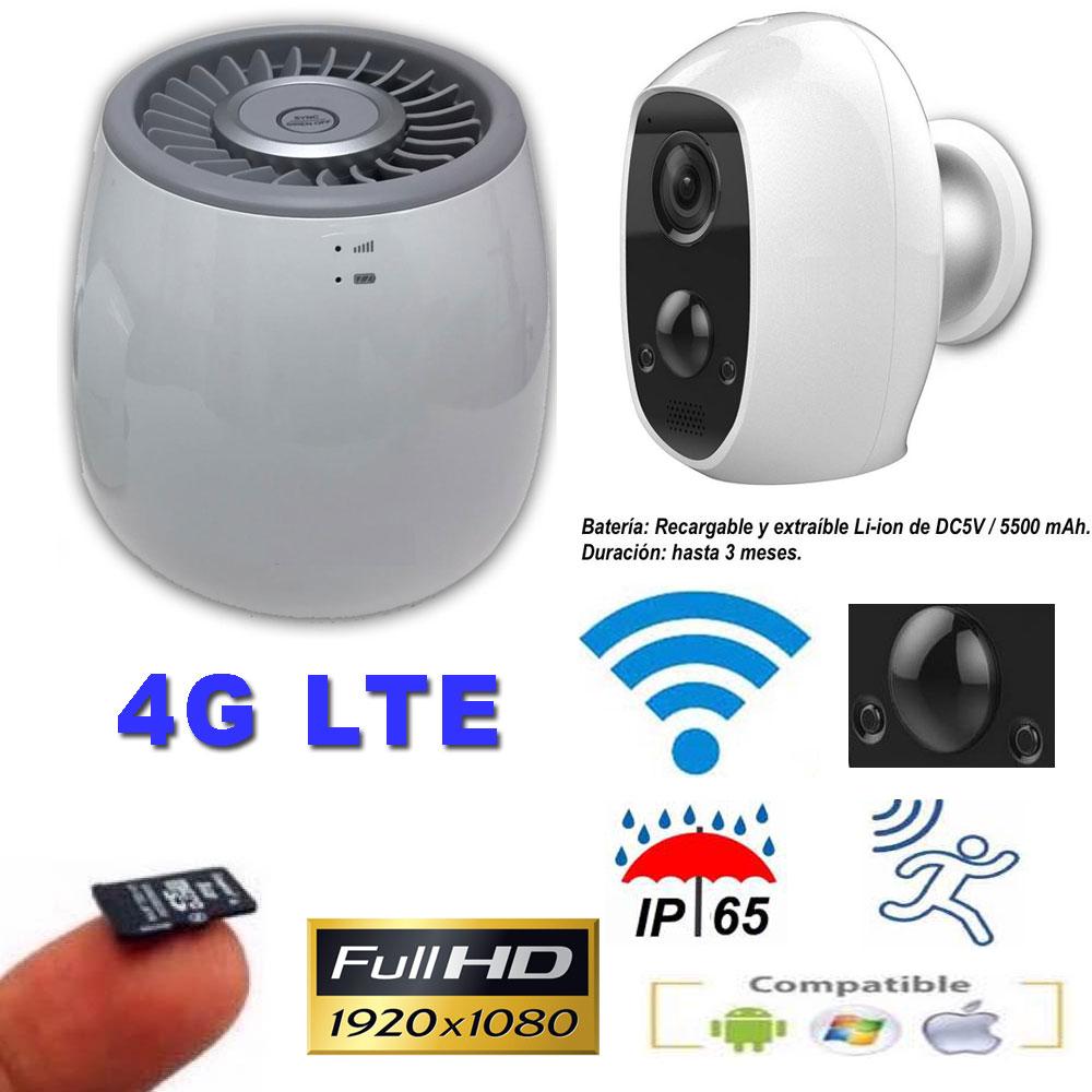 Kit Router 4G LTE y cámara IP 1080P ext&int con batería recargable y detección de movimiento