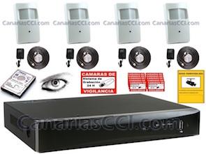 1220635 Kit vídeo televigilancia espía con grabación 1 Tb y Leds IR