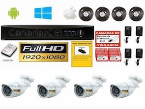 Videovigilancia 1080P exterior Pack 4 cámaras1221124