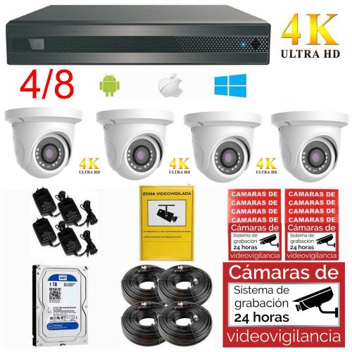 Kit videovigilancia 4K Ultra HD ampliable