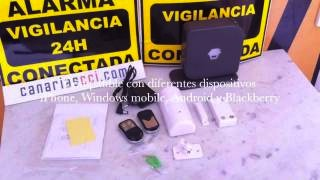 Video Alarma inalámbrica Aurora Light GSM / tarjeta SIM / kit básico