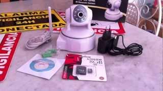 Video Cámara IP WIFI con grabación digital en tarjeta SD, visión nocturna y movimiento