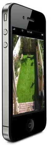 iPhone Cámara WiFi IP para exteriores de alta resolución con grabación digital y visión nocturna de 30 m