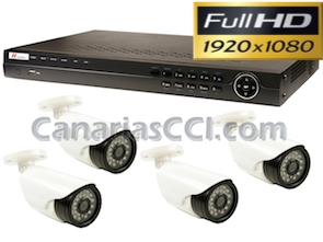Kits videovigilancia HD, Full-HD, UHD