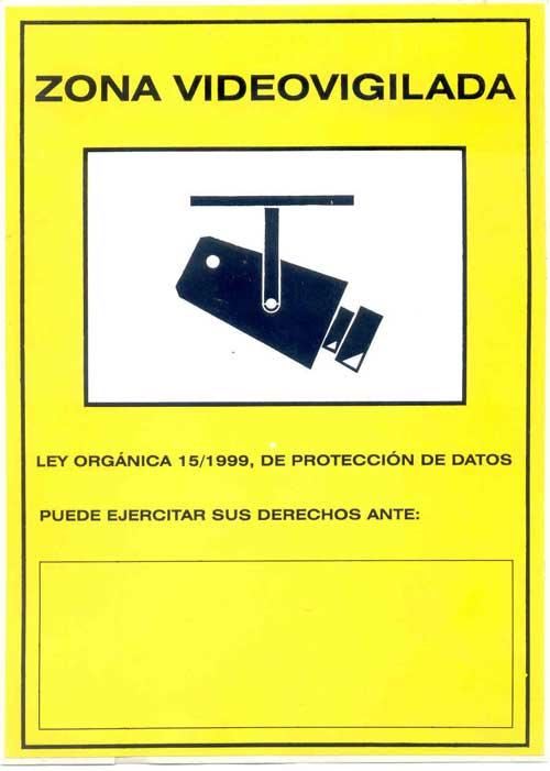 Cartel zona videovigilada - Camaras de vigilancia con grabacion ...