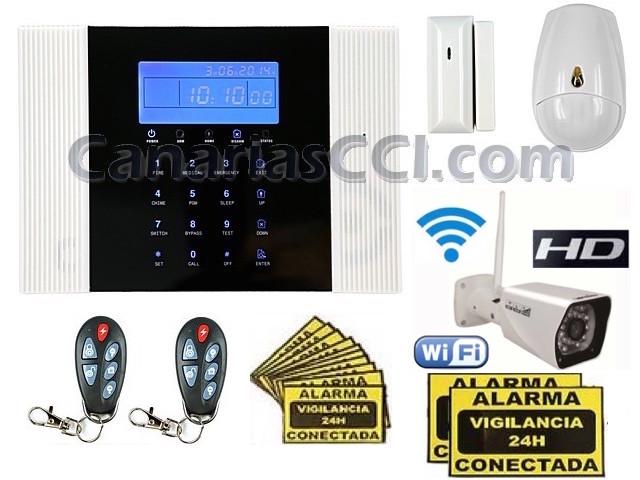 42f79d3a31b ... alarmas/Kit alarma inalámbrica Safemax G8 y cámara IP WiFi exterior. ;  