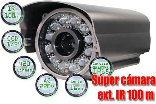 Camara de seguridad infrarroja para exterior 100 m - Camaras vigilancia exterior ...