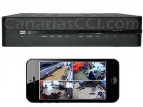 Vídeo grabador digital 960 H para 4 cámaras - videovigilancia por Internet